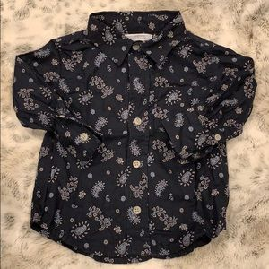Paisley button down shirt size 12 to 18 months